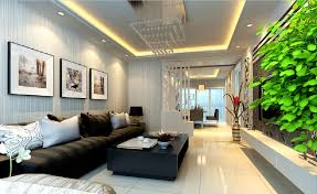 home interior wallpaper and partition 3d house