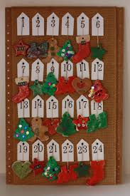 kid made salt dough ornament advent calendar run craft