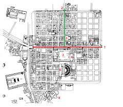 basilica floor plan plan of timgad algeria 1 decumanus 2 cardo 3 forum 4 basilica