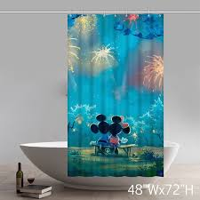 Unique Shower Curtains Personalize Disneycartoon Mickey Mouse Waterproof Bathroom Shower
