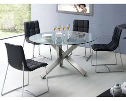 Round Dining Table With Glass Top Modern Dining Set Round Glass Top Table European Design 33d231