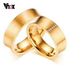 aliexpress buy vnox 2016 new wedding rings for women aliexpress buy vnox gold color anel de casamento fashion