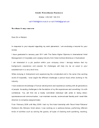 cover letter english