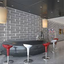simulation room beibehang modern retro imitation brick gray black simulation