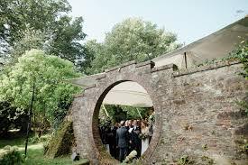 wedding arch northern ireland blush gold autumn wedding at drenagh estate in ni with suzanne
