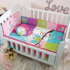 Baby Comforter Sets Naptime Owls 6 Piece Baby Crib Bedding Set With Bumper By Babys