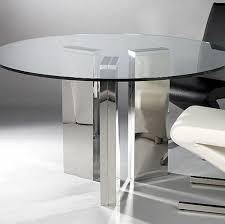all glass dining table glass dining table the round glass dining table from laflat features