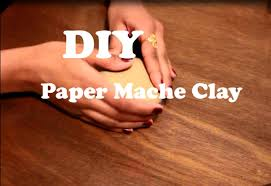 Paper Mache Halloween Crafts by Diy Paper Mache Clay Using Only 3 Ingredients Fast Easy Paper