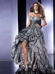 wedding dresses black friday strapless silver tulle and leopard print high low prom dress