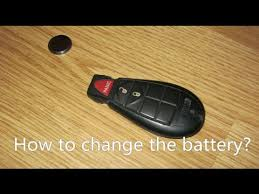 battery for dodge durango how to change the battery in a dodge key fob