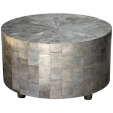 Drum Accent Table Coffee Table Gallery Of Silver Coffee Table Design Silver Side
