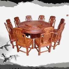 Solid Mahogany Dining Table Yellow Rosewood Carved Wishful Round Dining Table Hedgehog