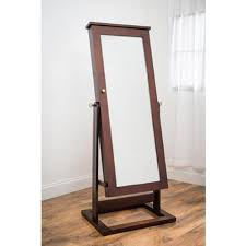 amazon com modern jewelry armoire full length cheval mirror home