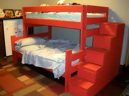 Twin Over Full Bunk Bed With Stairs Plans Download Kitty Condo - Stairway bunk bed twin over full