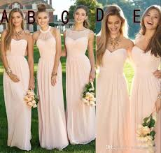 cheap pink bridesmaid dresses 2016 pink navy cheap bridesmaid dresses mixed neckline flow