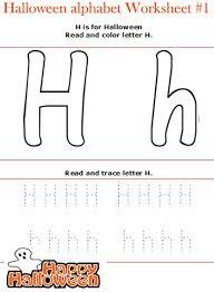 halloween alphabet letters worksheet for preschool read and