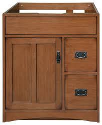 Mission Style File Cabinet Mission Oak Assembled Vanity 1 Door 2 Drawers Craftsman