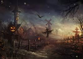 halloween fences night tower fences halloween scarecrow artwork jack o
