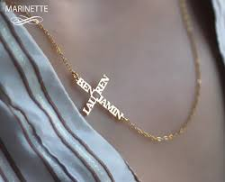custom engraved necklaces i this customized necklaces personalized with the 2 names of