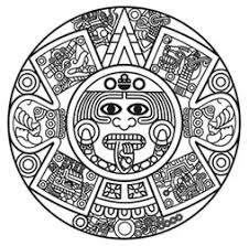 simple aztec sun tattoo design