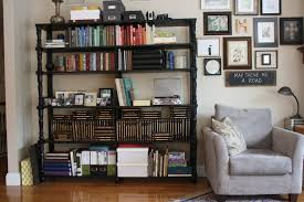 Creative Bookshelf Ideas Diy Furniture Chic Living Room Design With Diy Black Bookshelf And