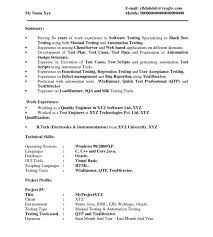 Test Engineer Sample Resume by Stunning Manual Test Engineer Sample Resume Most Resume Cv Cover