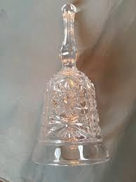 vintage 1970 u0027s cut crystal bell hobstar large over 7