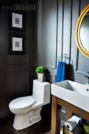 Powder Room Bathroom Reveal Dated Powder Room Gets A Moody Makeover Powder Room