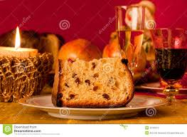 panettone traditional italian christmas cake stock photo image