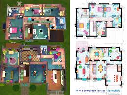 simpsons house floor plan photo 742 evergreen terrace floor plan images 742 evergreen