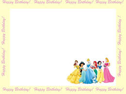 Princess Themed Birthday Invitation Cards Princess Birthday Invitations Birthday Party Invitations