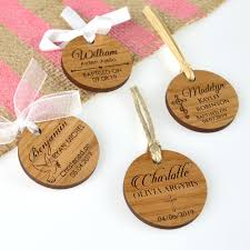 baptism engraving engraved wooden circle christening gift tags gift tags for