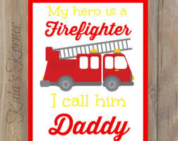 Firefighter Nursery Decor Comic Book Firefighter Poster 24 X 36 Firefighter
