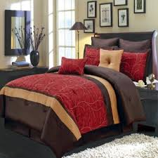 decorative bed pillows shams buy luxurious king size 8 piece red atlantis comforter set with