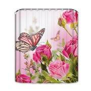 Walmart Com Shower Curtains Floral Rose Butterfly Decor Colorful Flowers Polyester Fabric