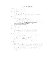 lab report conclusion template 40 lab report templates format exles template lab