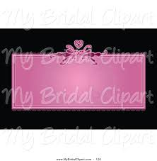 bridal clipart of a pretty pink heart text box business card