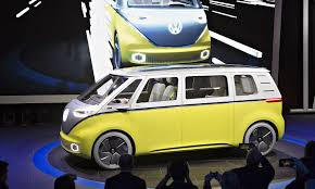 electric volkswagen van vw waves green flag for microbus styled electric mpv
