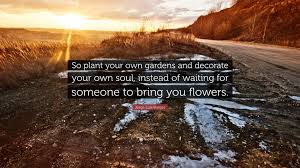 jorge luis borges quote u201cso plant your own gardens and decorate