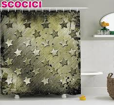 army home decor grunge home decor shower curtain set military grunge with carving
