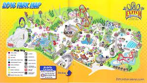 Busch Gardens Map Elitch Gardens 2016 Park Map
