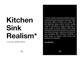 Kitchen Sink Realism  THE UNLIMITED Magazine Interactive - Kitchen sink music