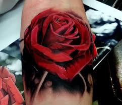 cliserpudo black and red rose tattoo images