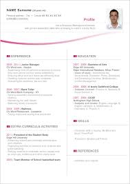 Resume Templates For Word Curriculum Template Word Thebridgesummit Co