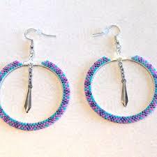 hoop beaded earrings best beaded hoop earrings photos 2017 blue maize