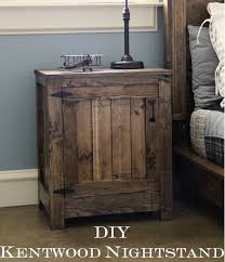 Plans To Build End Tables by Best 25 Rustic Nightstand Ideas On Pinterest Diy Nightstand