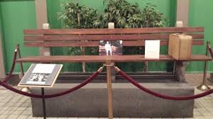 bench used in forrest gump picture of savannah history museum