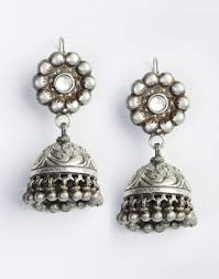 jhumka earrings online buy fabindia silver silver anusuya es 1695 jhumka earrings online