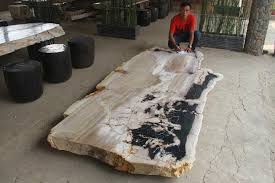 wood slab tables for sale petrified wood indonesia indogemstone unusual home decor