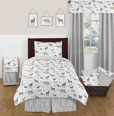 Kids Bedding Set For Boys by Sweet Jojo Designs 4pc Twin Bedding Set For The Woodland Animals